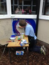 Eco-School Council work with local artist